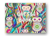 carnival owls guest book